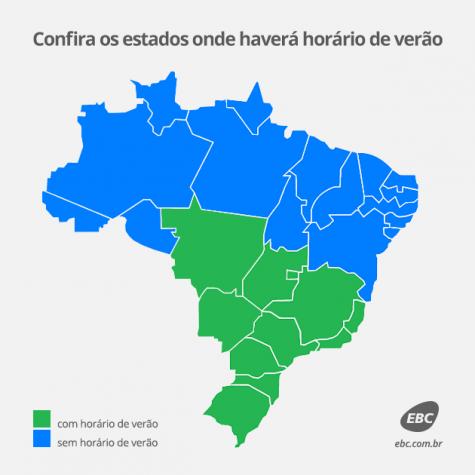 Mapa horário de verão 2014/2015