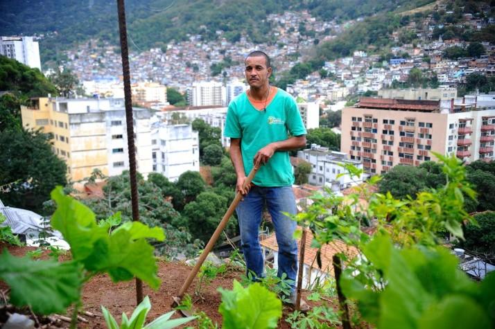 Horta Comunitária no Rio