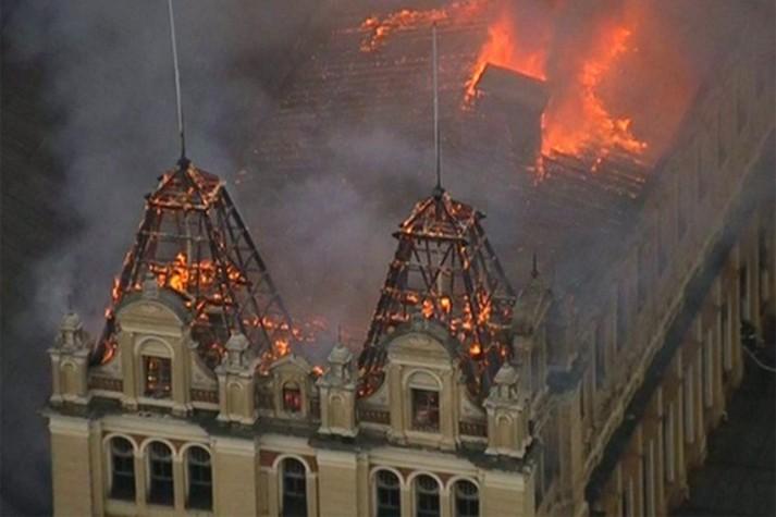 Incêndio no Museu da Língua Portuguesa