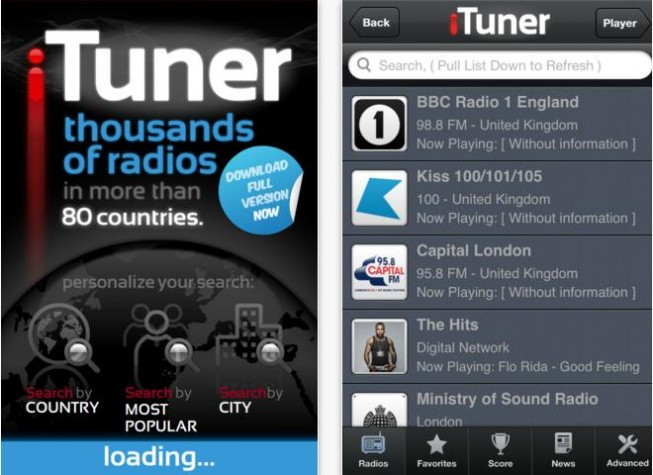 iTuner radio é exclusivo para iOS