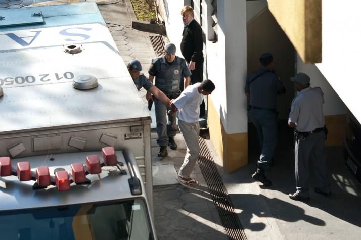 Elcyd Oliveira Brito chega para o seu julgamento em Santo André