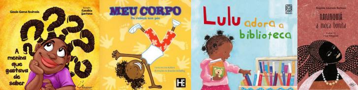 Montagem livros 100 meninas negras
