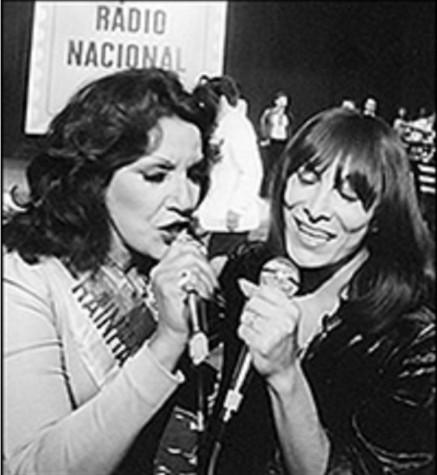 Marlene e Emilinha Borba na Rádio Nacional