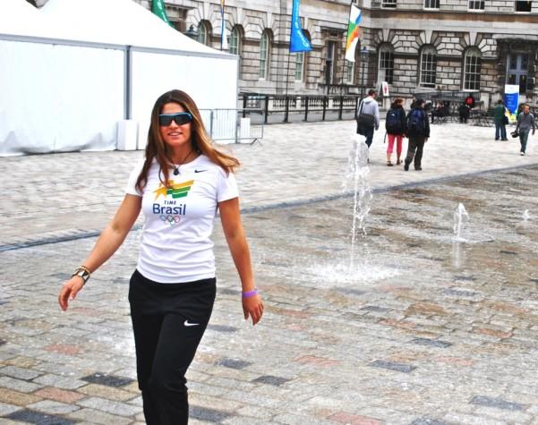 A velejadora Martine Grael em Londres