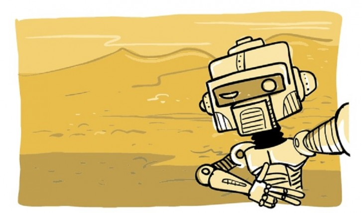 Selfie Robô Opportunity - charge de Will Leite