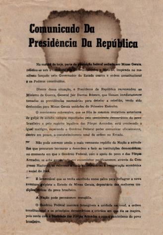Comunicado da Presidência