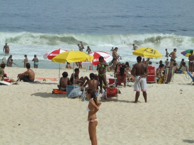 Praia de Ipanema, no Rio de Janeiro.