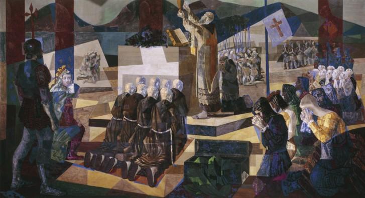 A Primeira Missa no Brasil - Cândido Portinari / Victor Meirelles