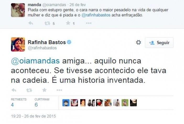 Rafinha Bastos comenta fala de Alexandre Frota