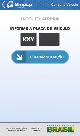 app celular roubado sinesp