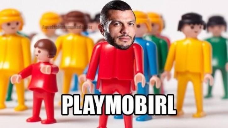 Playmobirl: Kléber Bambam malhando