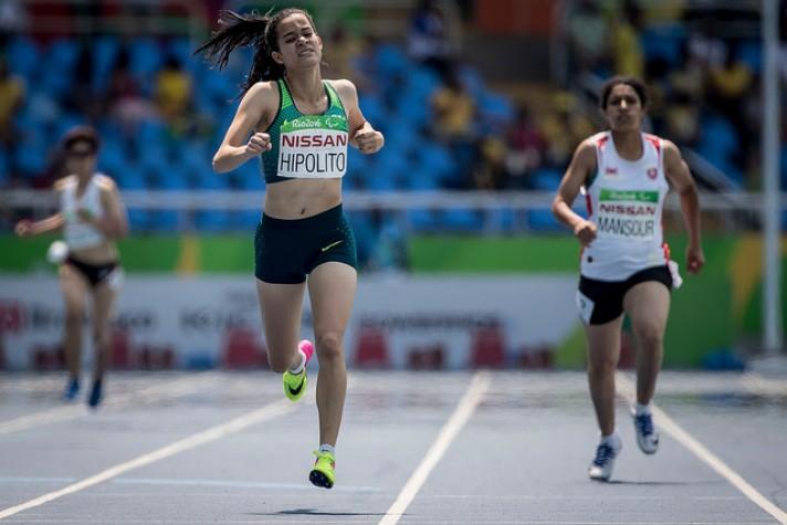Verônica Hipólito levou prata nos 100m T38 e bronze nos 400m, na mesma classe